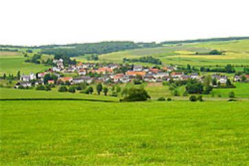 Panorama Oberzerf, Umgebung Ruwertal, Kleinzentrum Gemeinde Zerf